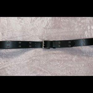 Black Grommet Leather Belt Size 2XL